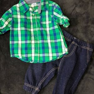 🚙baby boys size 6-12 months outfit🚙  🏈SCORE🏈